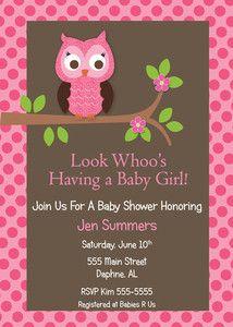 Printable printed owl girl baby shower invitation birthday printable printed owl girl baby shower invitation birthday anniversary invites filmwisefo