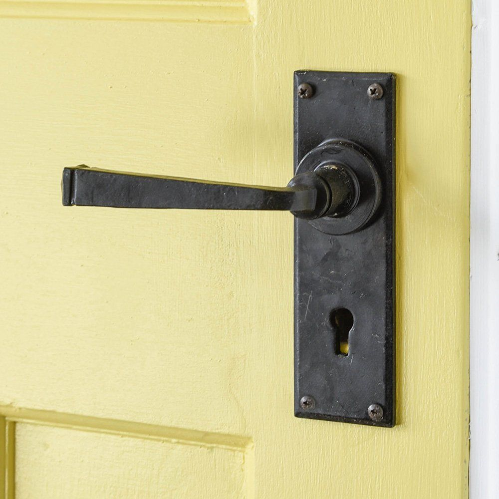 Black Lever Handle In 2020 Lock Set Beeswax Lever Door Handles