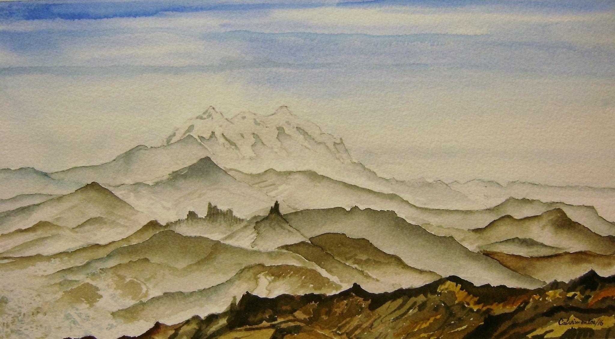Illimani 6439 m la montaa tutelar de la ciudad de La Paz