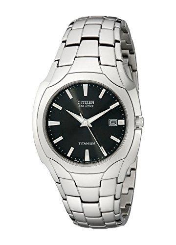 Citizen Mens EcoDrive 38mm Titanium Bracelet Watch