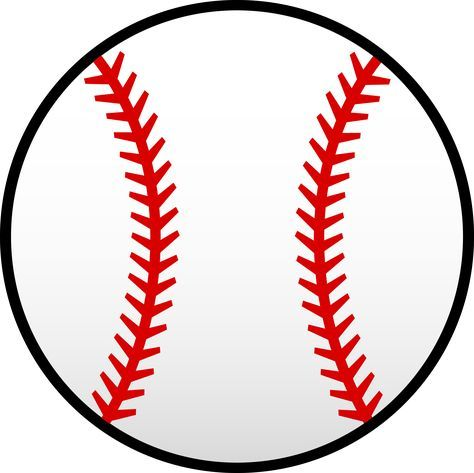 Photo of White Baseball With Red Seams – Free Clip Art