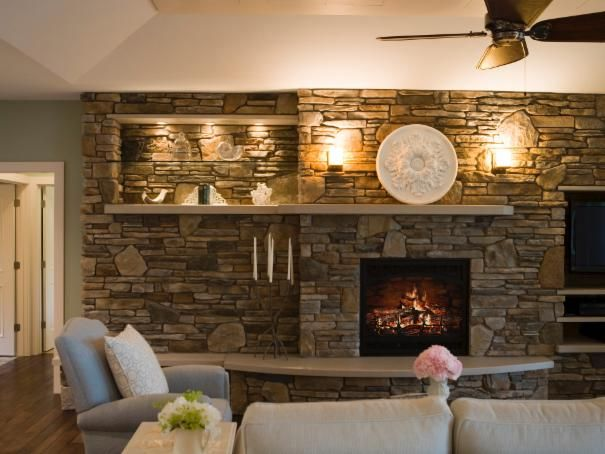 Photo Of Brown Traditional Living Room Project In Traverse City