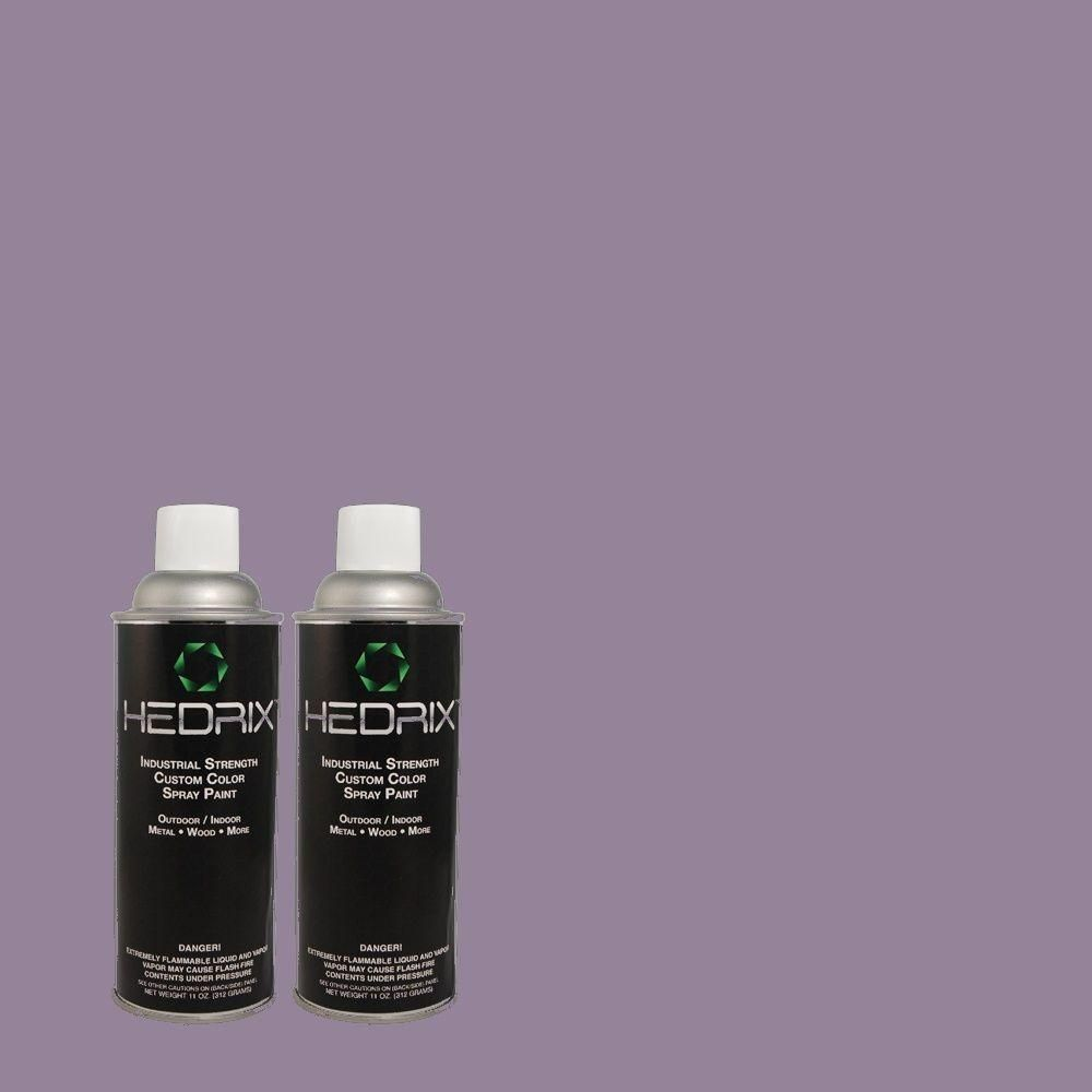 Hedrix 11 oz. Match of 640D-6 Chinese Violet Semi-Gloss Custom Spray Paint (2-Pack), Color Match Of 640d-6 Chinese Violet. Available In Multiple Sheens.