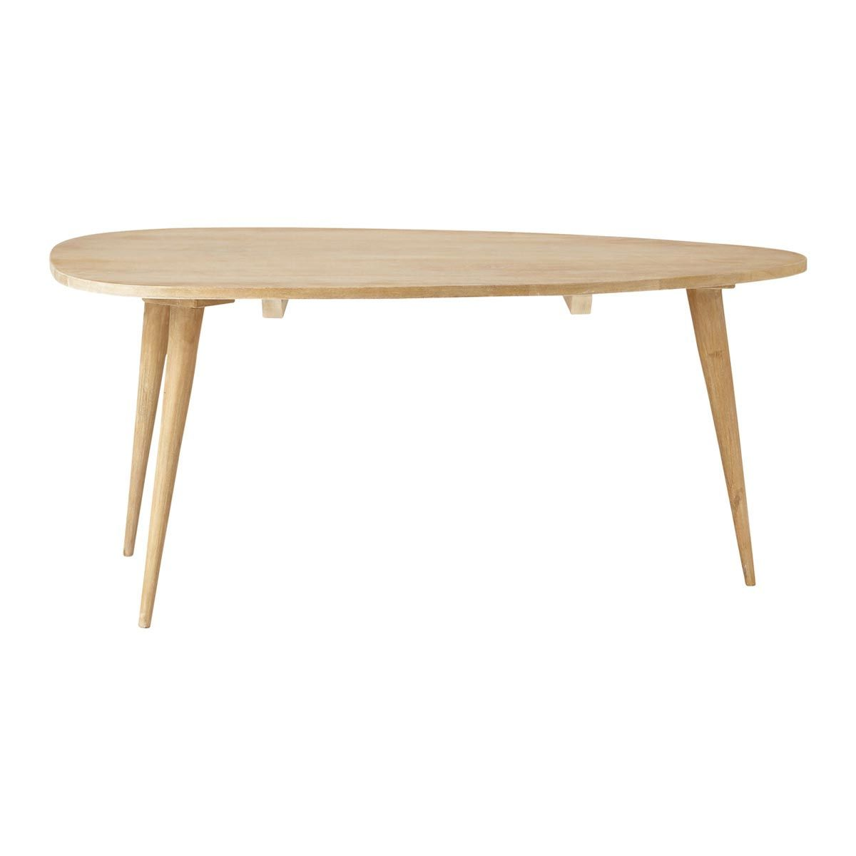 Solid mango wood vintage coffee table W 100cm Trocadero