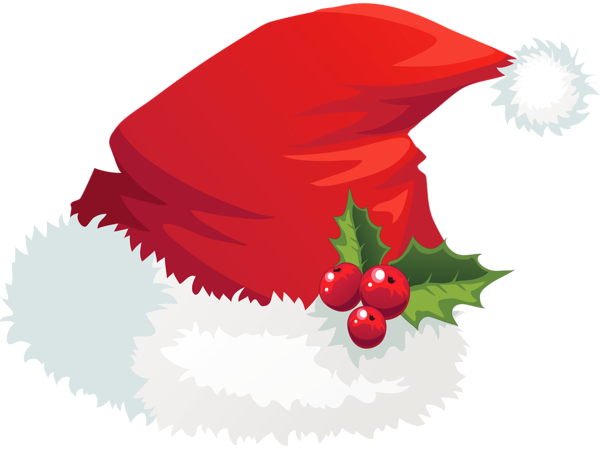 Transparent Santa Hat With Mistletoe Png Picture Christmas Clipart Santa Hat Clipart Christmas Art