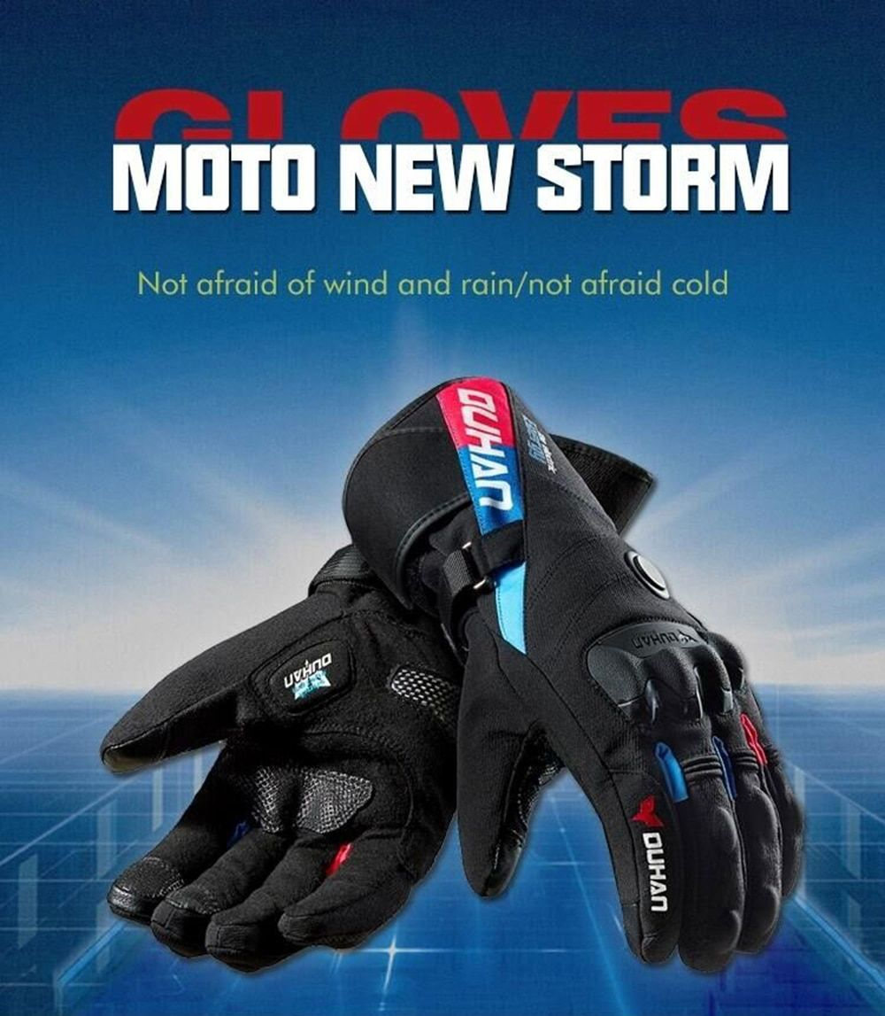 Duhan Winter Motorcycle Gloves Constant Temperature Heating Warm Windproof 100% Waterproof Moto Guantes Motorbike Riding Gloves