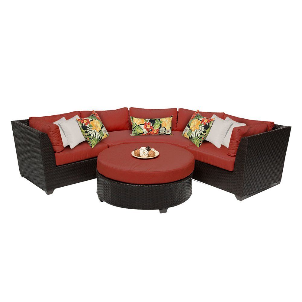 Shop TK Classics Barbados 4 Piece Outdoor Wicker Sectional Sofa Set At ATG  Stores.