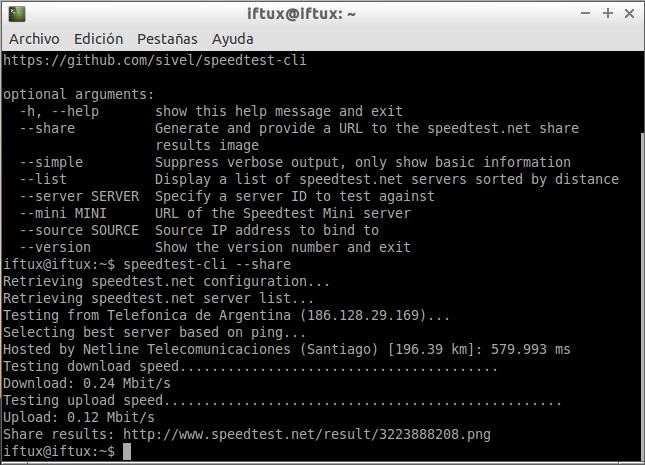 Cómo calcular la velocidad de red desde la consola con SpeedTest-Cli.