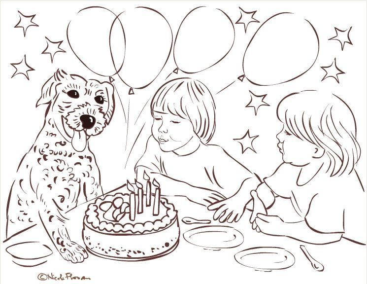 Free Coloring Pages Happy Birthday  La Multi Ani  Buon