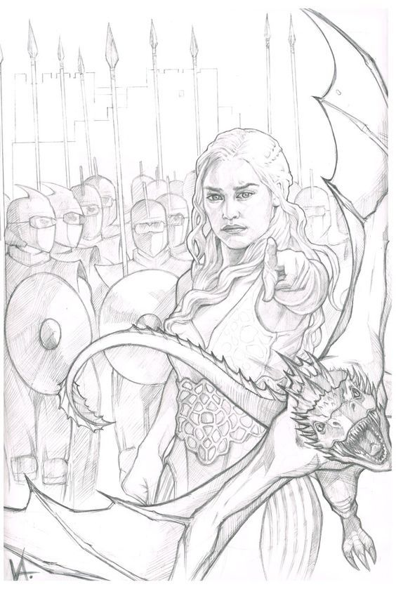 Daenerys Targaryen By Monkeyfire99 Deviantart Com On Deviantart Game Of Thrones Drawings Game Of Thrones Art Game Of Thrones Artwork