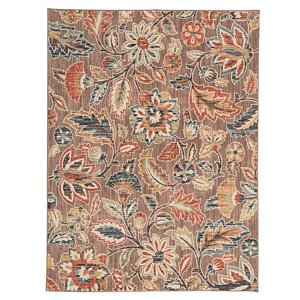 Home Decorators Collection Elyse Taupe 8 Ft X 10 Ft Area Rug 573171 The Home Depot Area Rugs Home Decorators Collection Floral Area Rugs