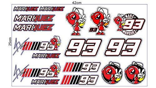 Marc Marquez Moto GP Racing 1 Set 17 Sticker Decal Aufk Amazon Dp B074DT75FQ Refcm Sw R Pi X CyGzb3EVJSFB