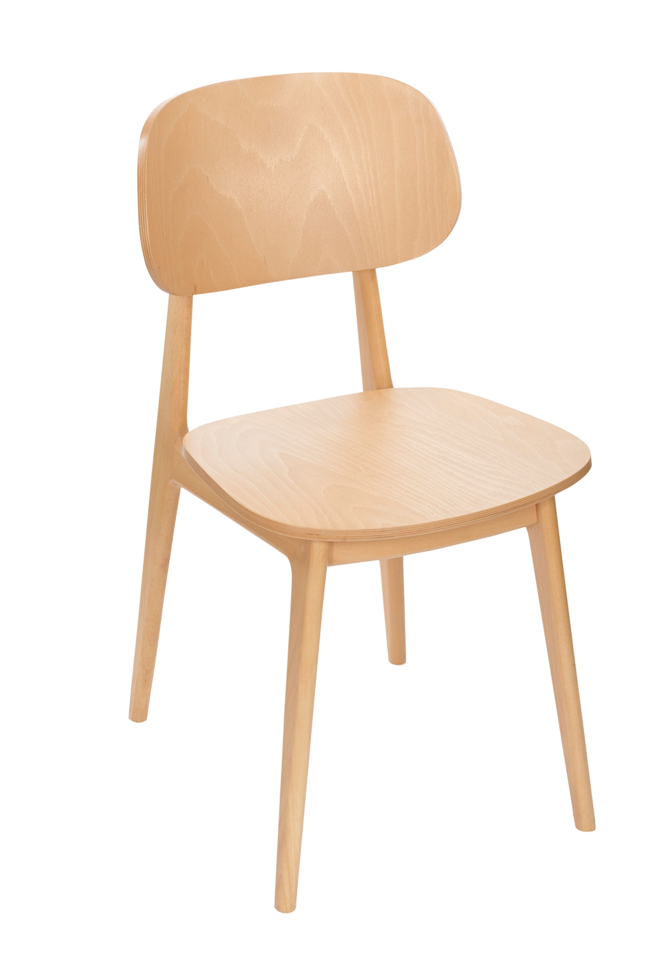 Bfm emma chairs is made from european beechwood manufactured in europe this clean modern design can be upholstered on the seat and the back to look great