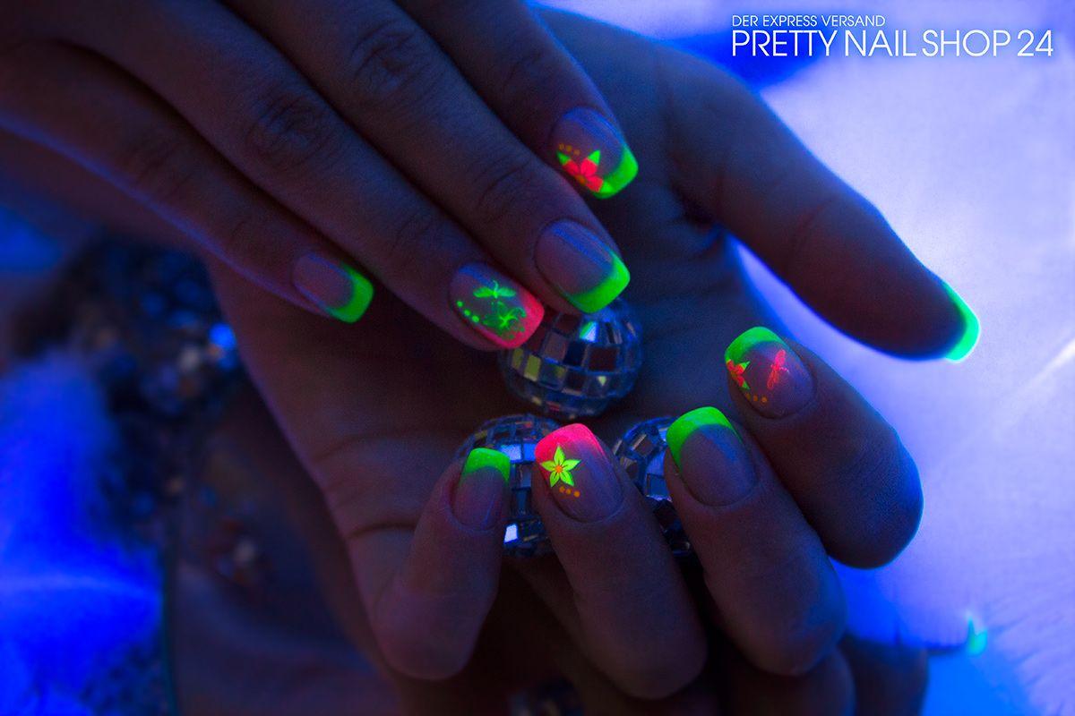 neon #night #uv #gel #fingernägel | Naildesign - Nailart | Pinterest ...