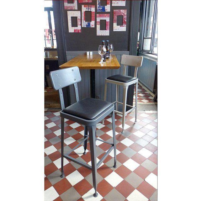 lot de 2 tabourets de bar vintage benvenuto drawer la. Black Bedroom Furniture Sets. Home Design Ideas