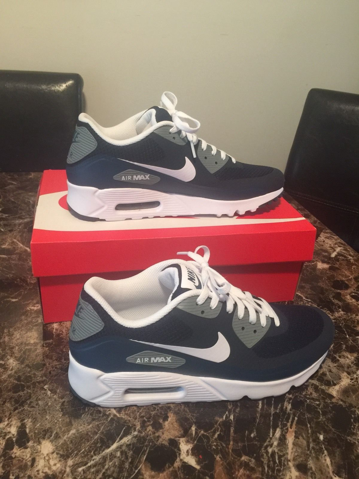 NEW Nike Air Max 90 Ultra Essential Size 10 Blue White