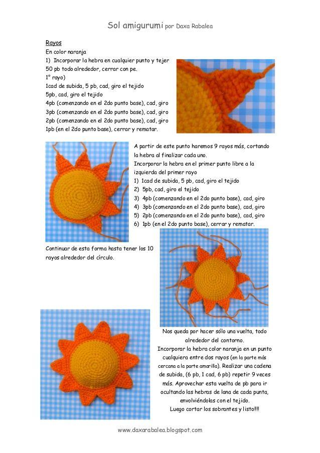 Sol amigurumi - patrón gratis | **®®®AMIGURUMI 100% FREE PHOTO ...