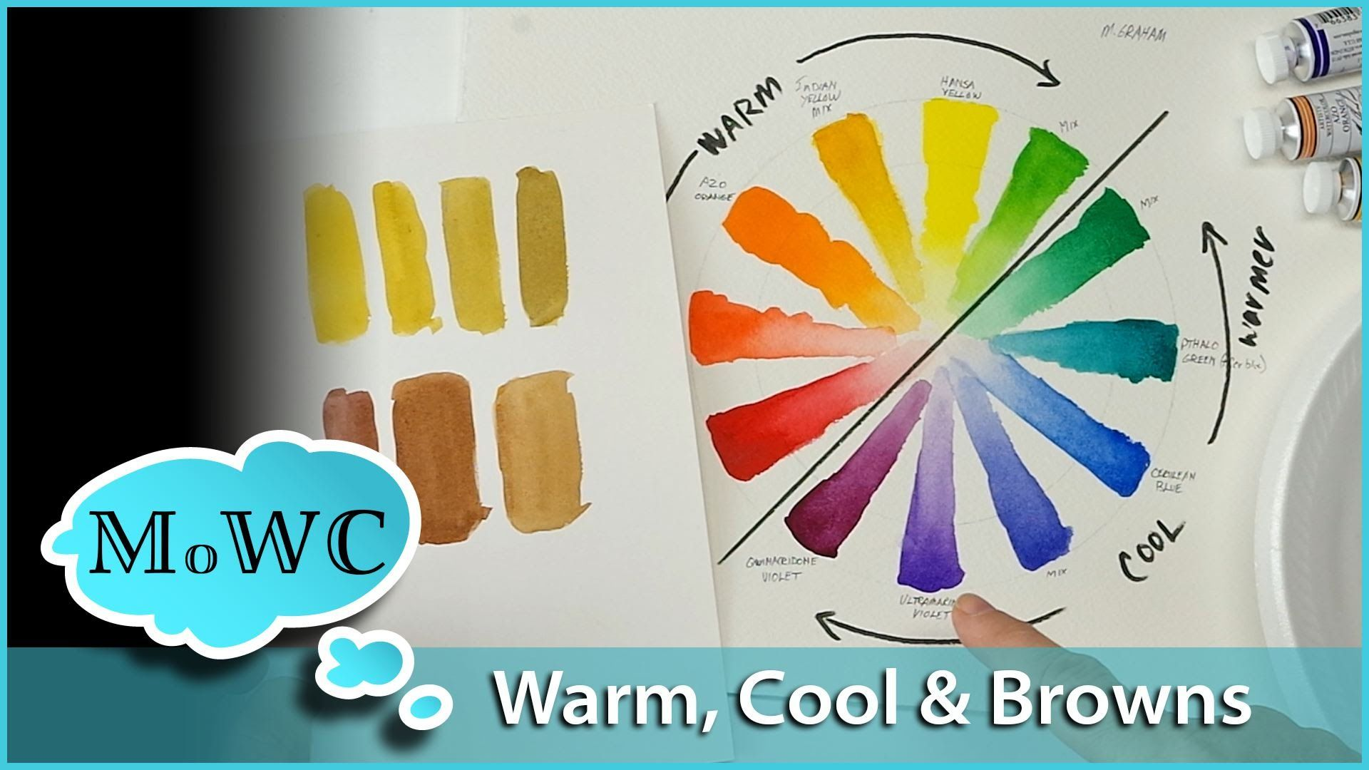 Warm Vs Cool Colors And Mixing Browns In Watercolor Painting