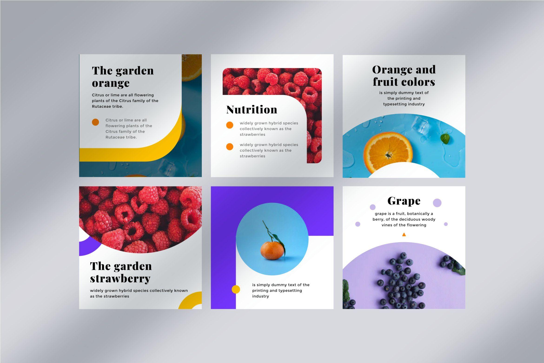 Fruit Social Media Kit 02 Social Media Design Graphics Social Media Infographic Design Social Media Design Inspiration