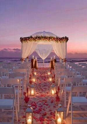 Evening Beach Wedding