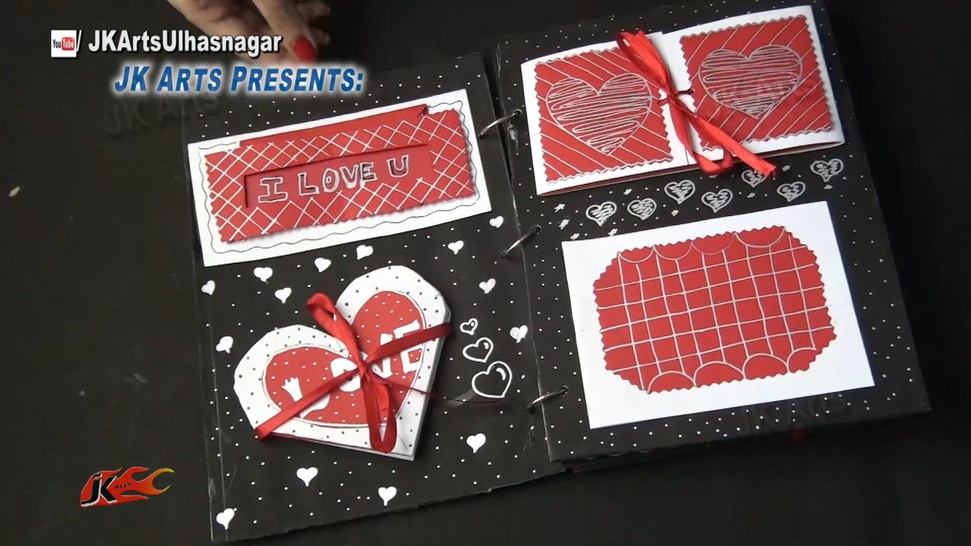 Scrapbook Tutorial - 20 Greeting Cards Scrapbook - Valentines Day