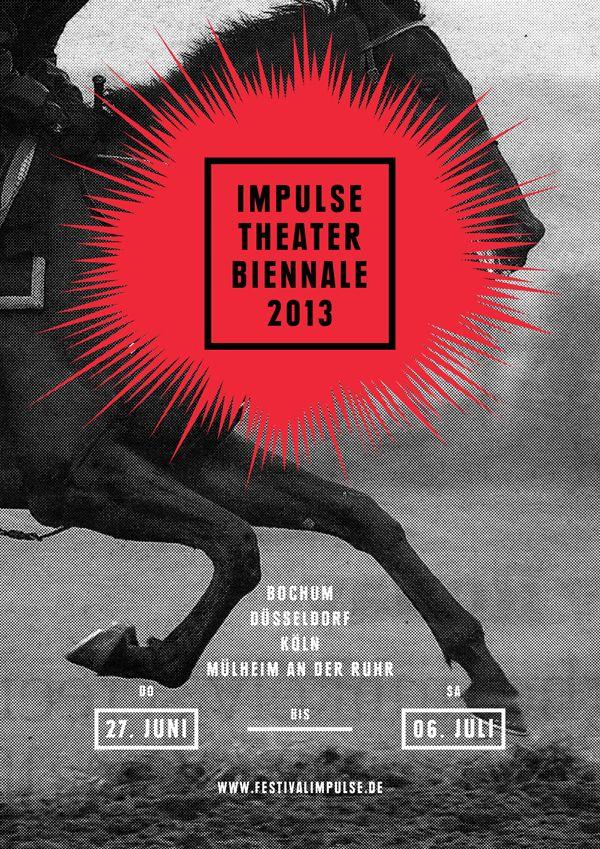 impulse theater biennale 2013 featured grafik design plakat design und grafikdesign. Black Bedroom Furniture Sets. Home Design Ideas