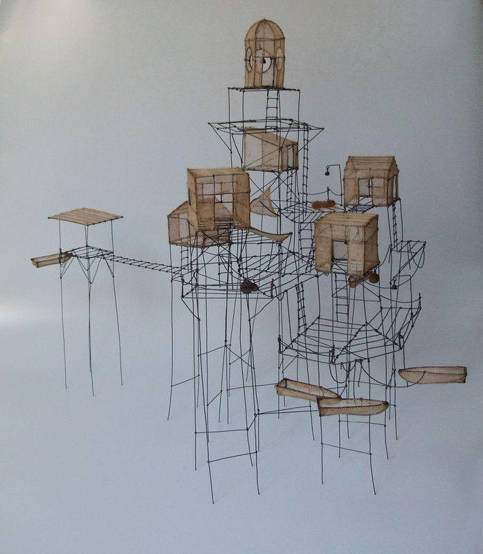 du Fil de Fer.\' Whimsical models by Isabelle Bonte. | Architectural ...