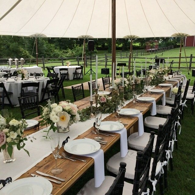 Head table design for a elegant farm wedding. Designed by Sullivan Owen.