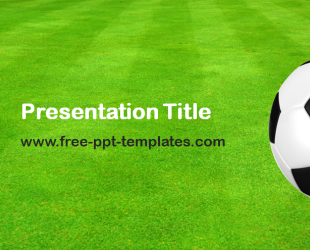 football powerpoint template is a green template which you can use