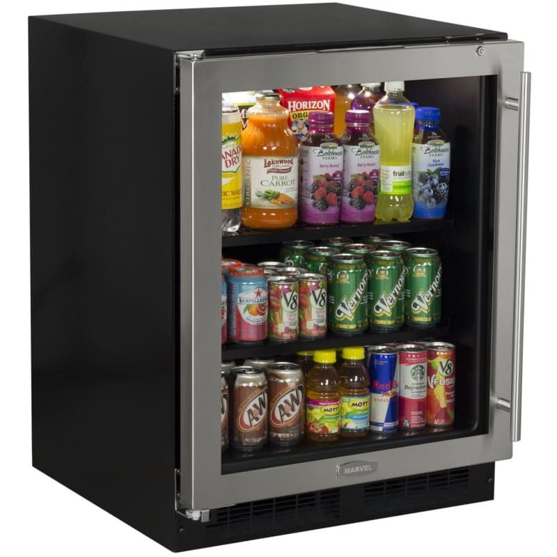 Marvel MA24BC1L Beverage center, Glass door refrigerator