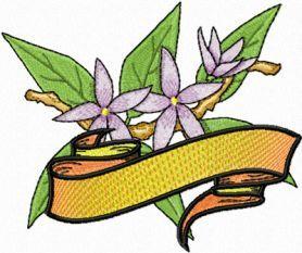 Orange Blossom free machine embroidery design. Machine embroidery design. www.embroideres.com