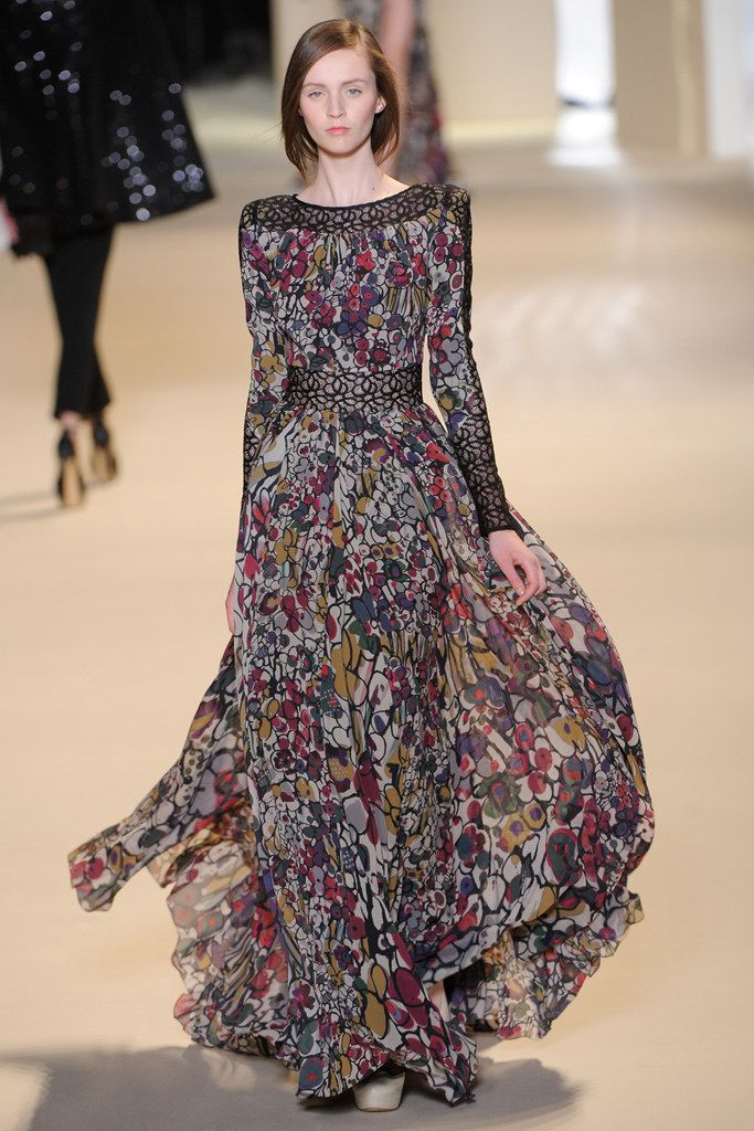 Elie Saab Fall 2011 Ready-to-Wear Fashion Show - Maddie Kulicka