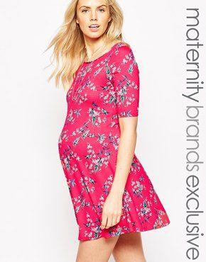 23c29e50da9e2 Enlarge New Look Maternity Floral Print Swing Dress | maternity ...