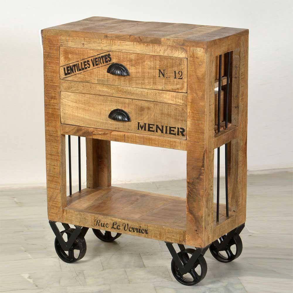 Rollkommode Aus Mango Massivholz Loft Style Kommode,flurkommode,schlafzimmer  Kommode,kommode Holz,