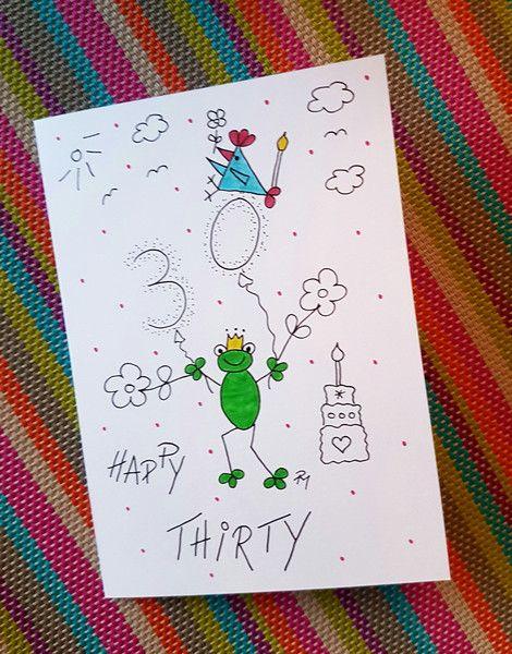 Geschenke für Frauen   Geburtstagskarte zum 30.   ein
