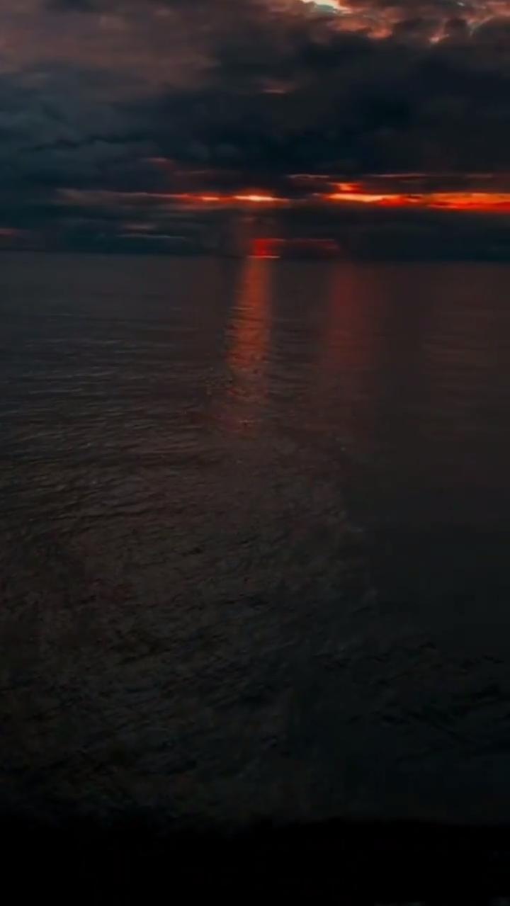 the sea was calm