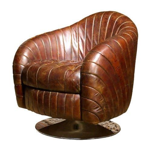 Moe's Home Collection Geneva Club Chair - Dark Brown