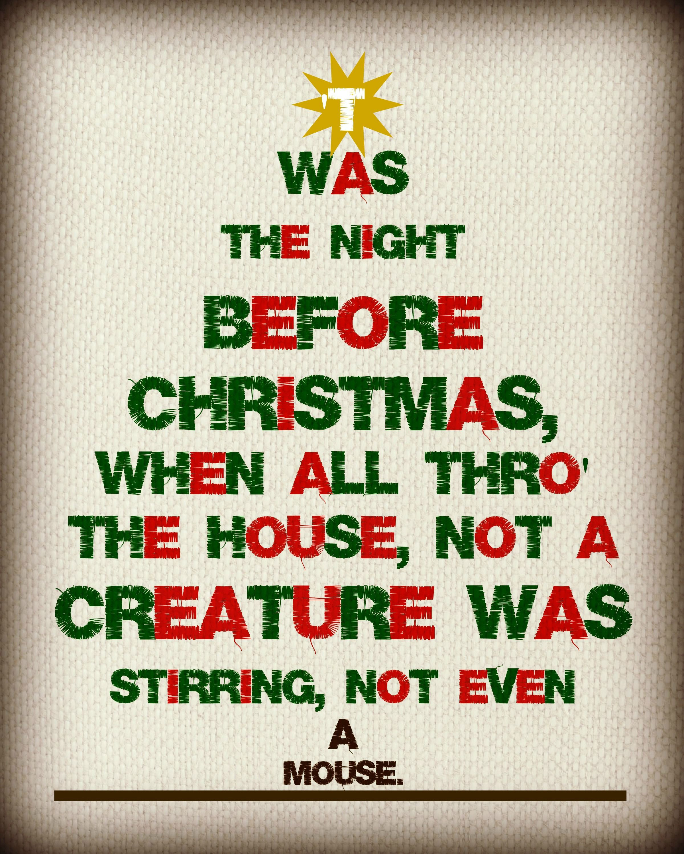 Twas The Night Before Christmas {Free Printable} | Free printable ...