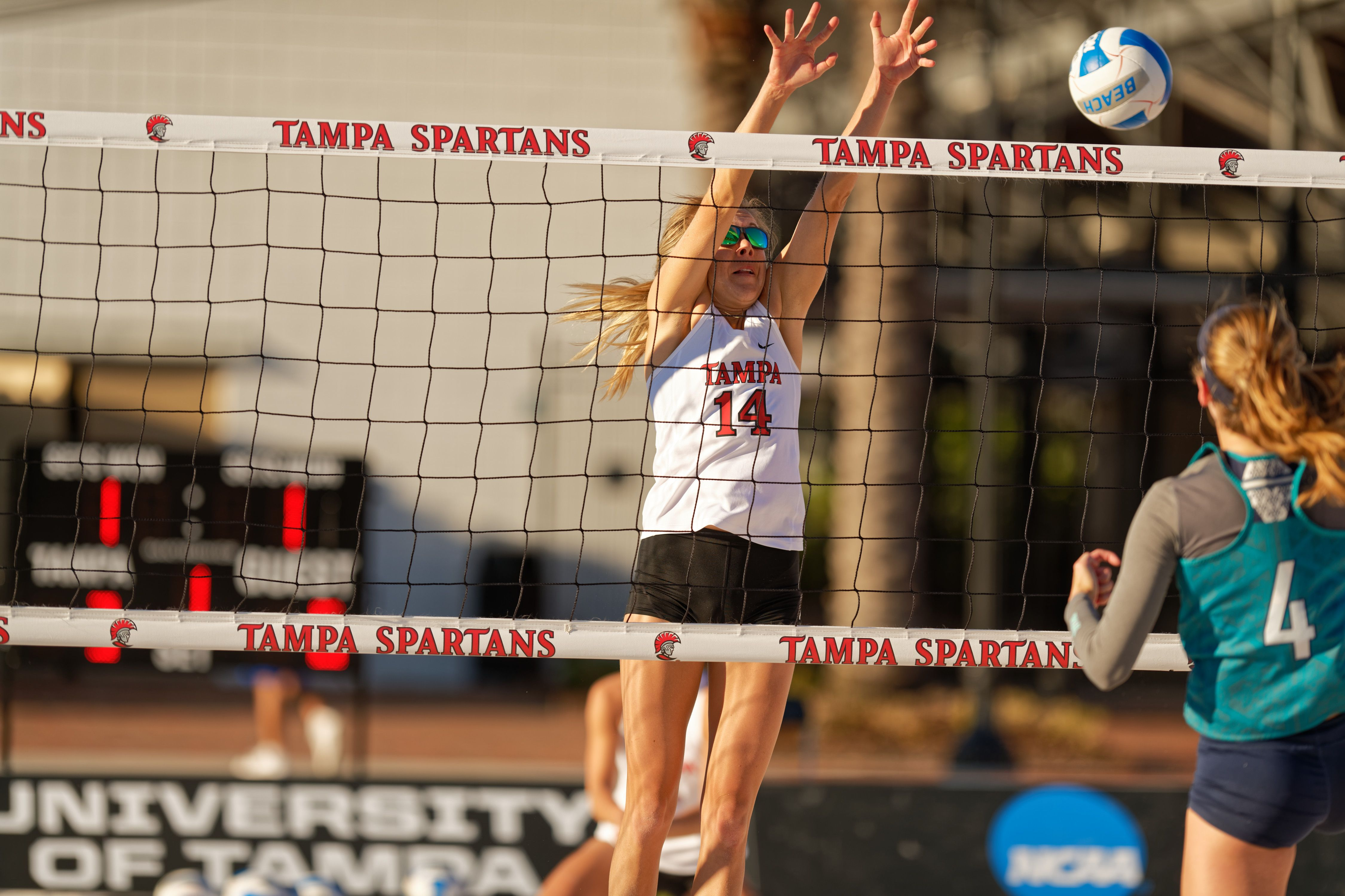 University Of Tampa Division I Beach Volleyball Custom Top Net Tape For Beach Volleyball University Of Tampa Beach Volleyball Tampa