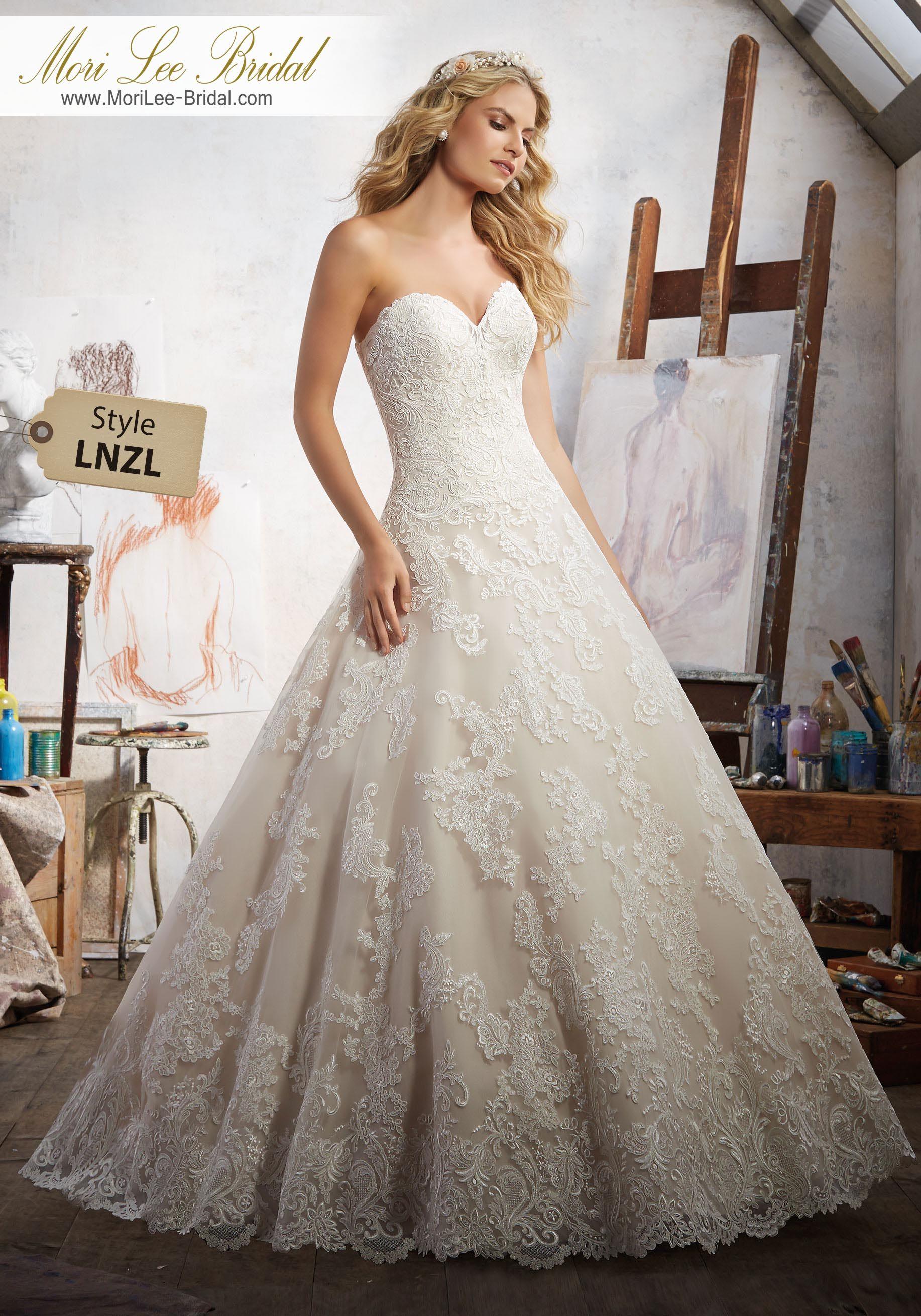 Style lnzl magdalena wedding dress alen çon lace appliquŽés accent