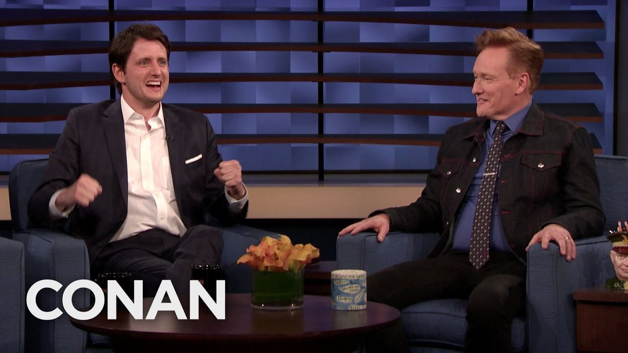 Zach Woods Wants To Promote Ford V Ferrari Conan On Tbs Zach Woods Christian Bale Comedians