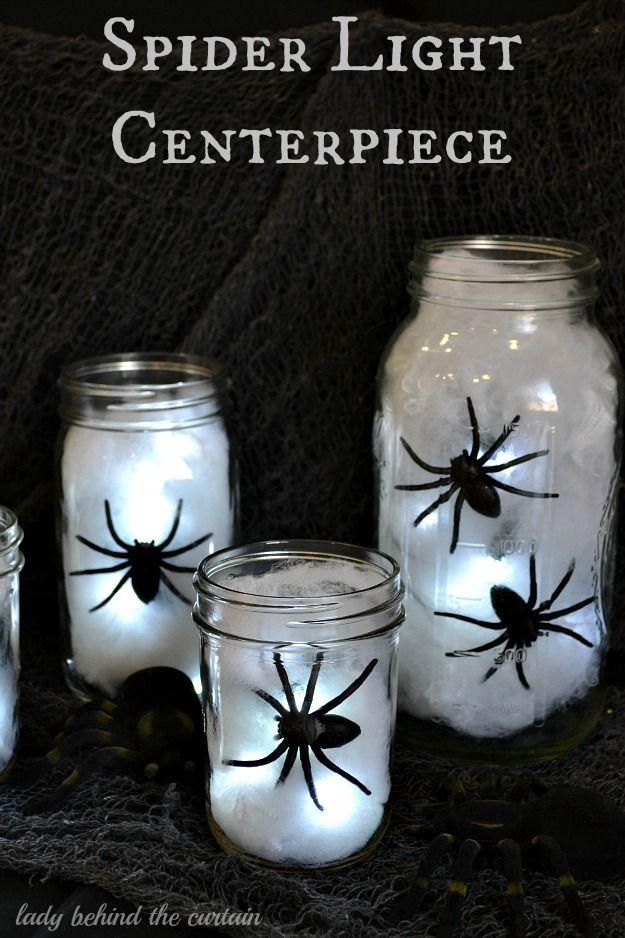 Centros de mesa iluminados con araas para