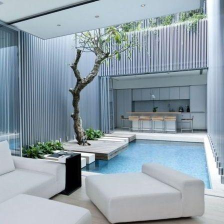 kolam renang minimalis (dengan gambar) | desain interior
