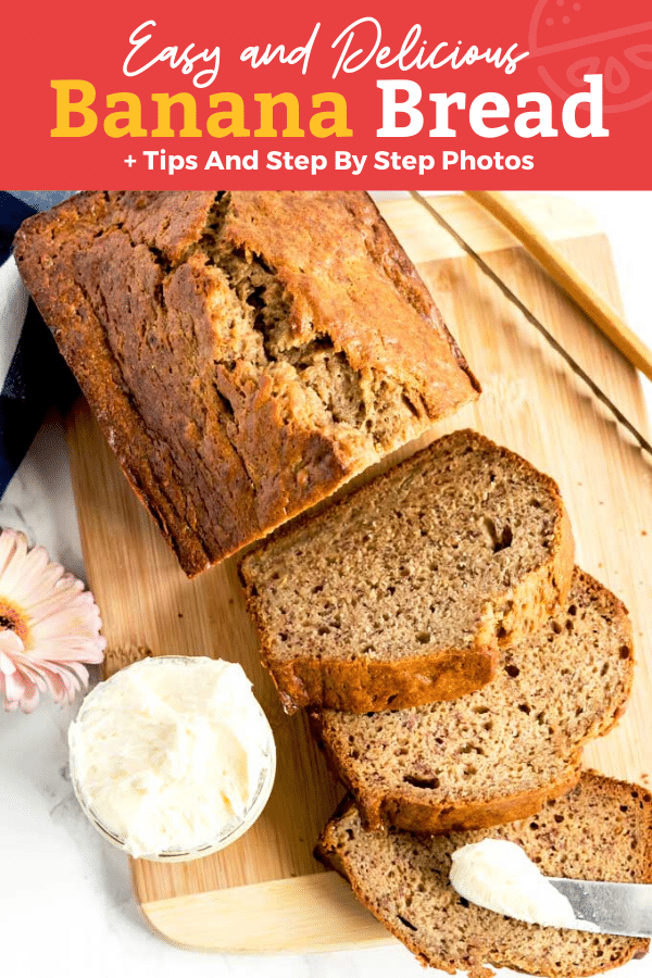 This Banana Bread Recipe Is Moist Has A Tender Crumb And Is Deliciously Flavored With Ripe In 2020 Easy Homemade Recipes Easy Banana Bread Recipe Brown Sugar Recipes