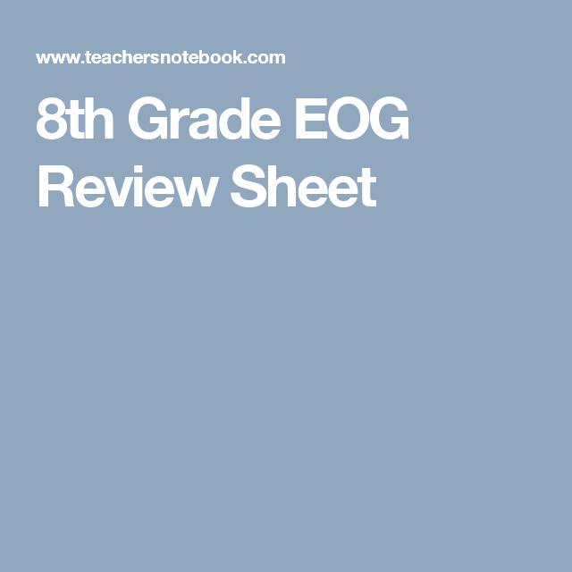 8th Grade EOG Review Sheet | Math | Pinterest | Maths