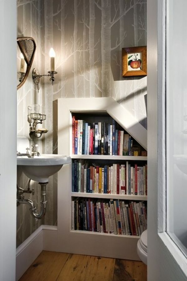 kleine zimmerdekoration idee regal badezimmer, einrichtung eines kleinen badezimmers regale waschbecken idee | bad, Innenarchitektur