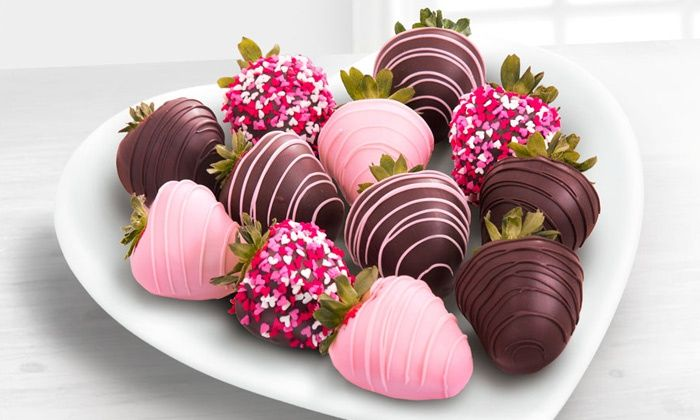 Valentines Day Chocolate Covered Strawberries Desserts Pinterest