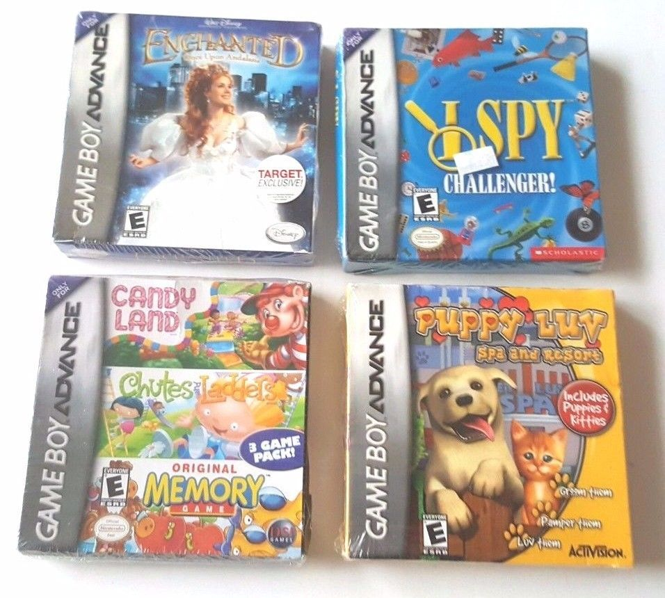 4 brand new sealed gameboy advance games gba sp girls lot puppy luv