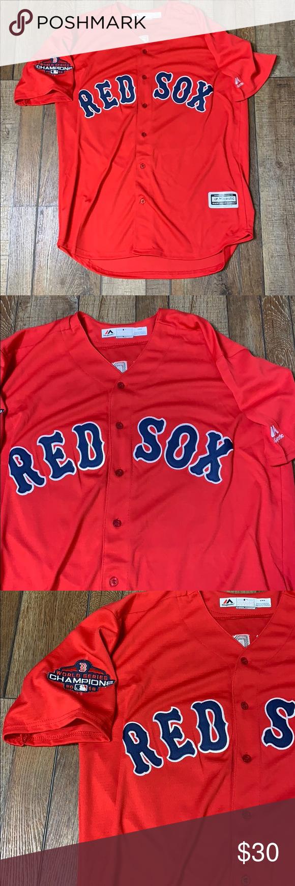 b1ffb47d7 JD Martinez Boston Red Sox World Series Jersey Men's Size Medium Authentic Majestic  Cool Base Jersey