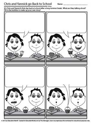 comic strip dialogue template  Comic Strip Writing for Beginning of School | Education ...